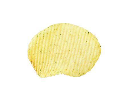 grasas saturadas: Corrugado papas fritas con la adición de cebollas verdes