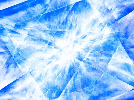 Abstract, cool background of blue, the ice crystals.                                photo