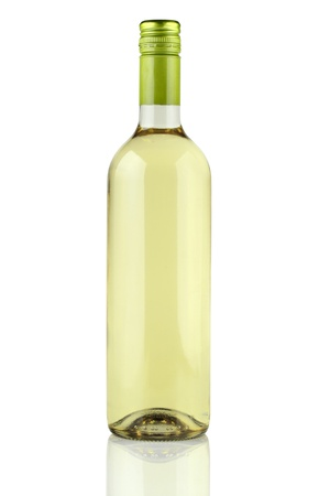 green glass bottle: White wine.