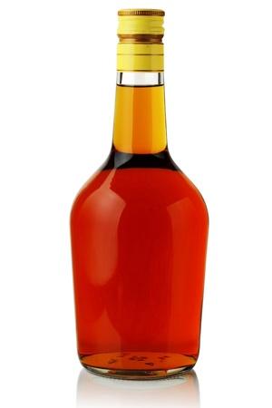 alcohol bottles: Liquor.