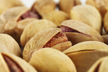 Blur background abstract of pistachios. photo