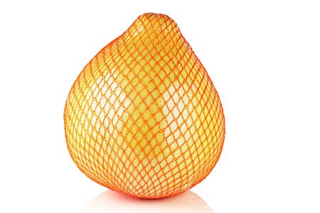 Pomelo in a package on a white background. Stock Photo - 11981222