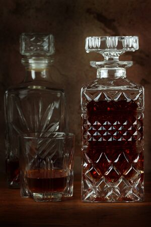 Decanter with liquor. Stock Photo - 12507378