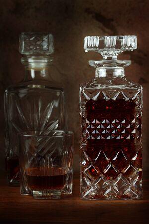 Decanter with liquor. Stock Photo - 12507378