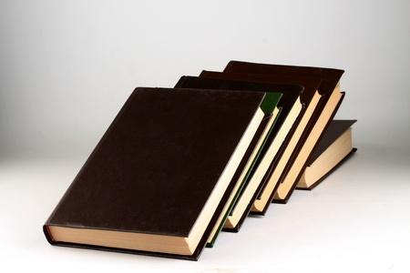 Books on a light background. Stock Photo - 12999419