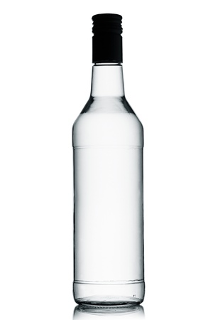 A bottle of vodka on a white background. photo