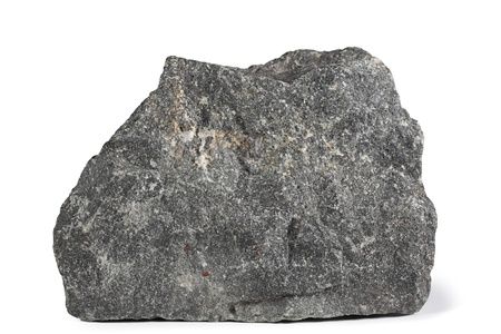 stepping stone: Fragment of granite on a white background.