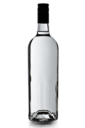 bottle of vodka on a white background photo