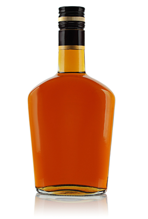 booze: bottle of booze on a white background.