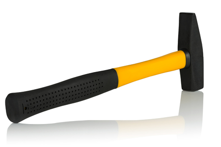fiberglass handle: machinist hammer handle made of fiberglass on a white background