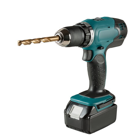 Cordless Driver Drill isolated on a white background.