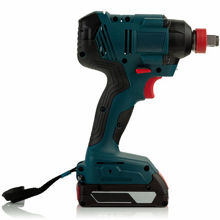 cordless impact driver on white background 스톡 콘텐츠