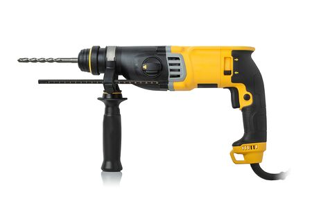 Advanced professional hammer drill on a white background