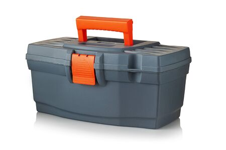 plastic tool box on a white background Reklamní fotografie