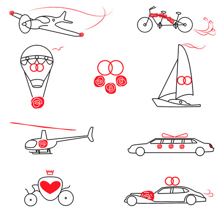 modesty: Transportation for the Wedding, 8 icons