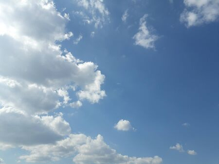 Blue sky with beautiful white clouds