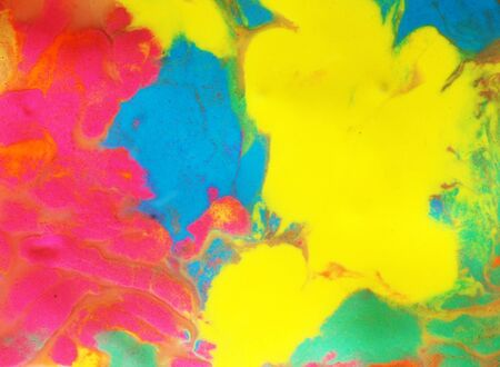 psychedelic multicolored background of a mixture of paints