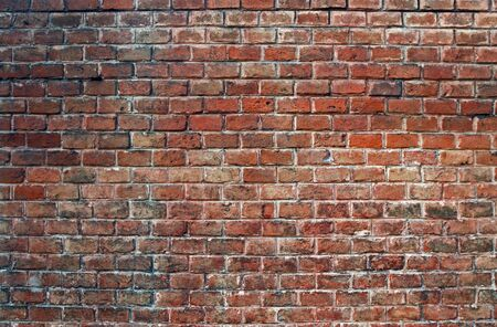 Red brick wall, background, texture
