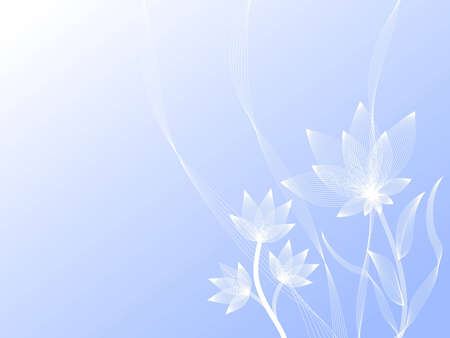 Light blue flowers on a blue background Stock Photo - 2775779