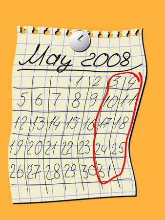 almanac: Calendar for a wall, May