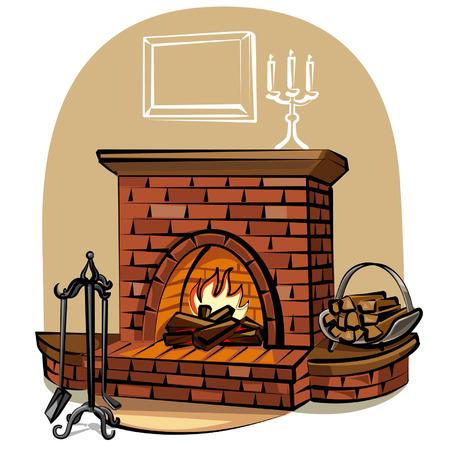 ohniště: krb Ilustrace