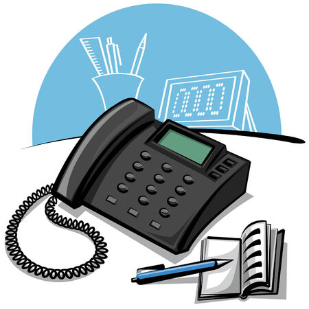 office phone Stock Vector - 8949328