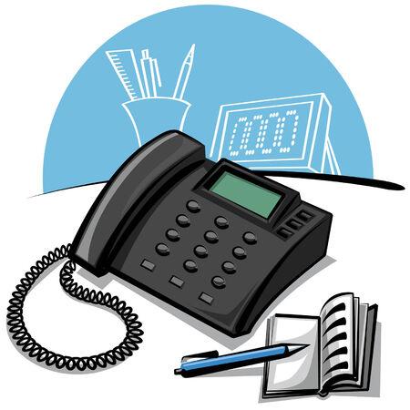 office phone Stock Vector - 8949328
