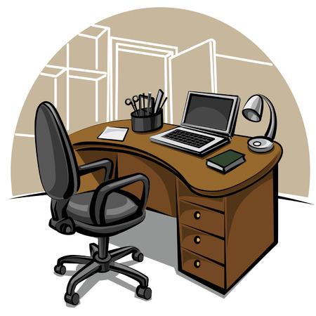 estação de trabalho: local de trabalho de escrit
