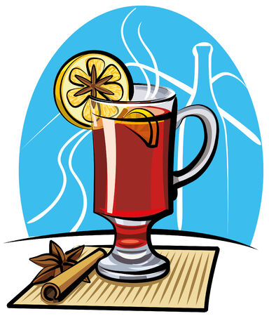 mulled wine Stock Vector - 9099919