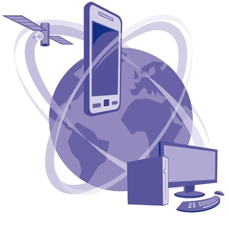 Global communication Stock Vector - 9287828