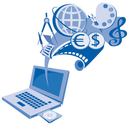 Laptop computer Stock Vector - 9287827