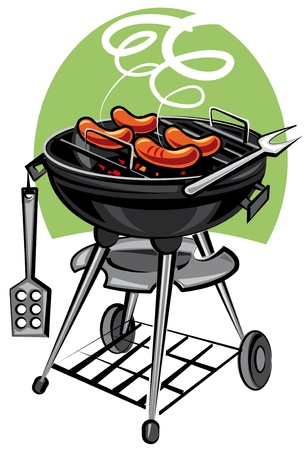 barbecue grill: barbeque grill