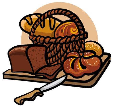 fresh bread Stock Vector - 9602674