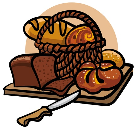 bread basket: fresh bread
