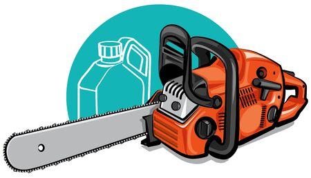 motosierra Ilustración de vector