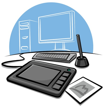digital graphic tablet Stock Vector - 9602673