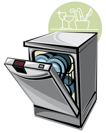dishwasher: dishwasher Illustration