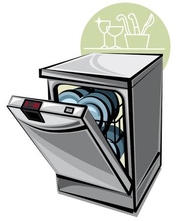 chores: dishwasher Illustration