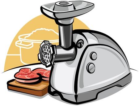 electric meat grinde Çizim