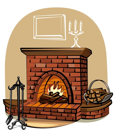 fireplace Stock Vector - 9662705