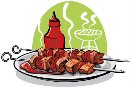grilled meat Stock Vector - 9662712