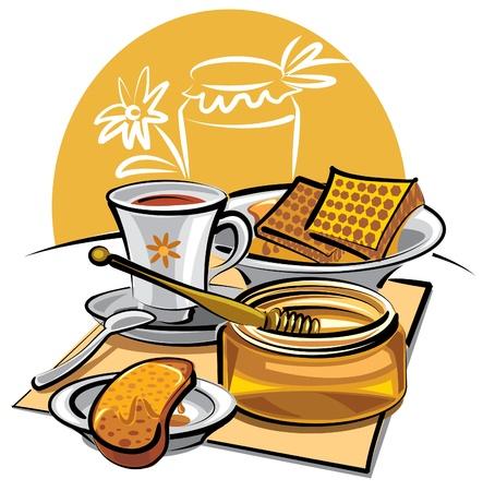 honey and tea Stock Vector - 9655571