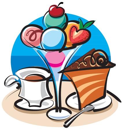 cake slice: ice cream