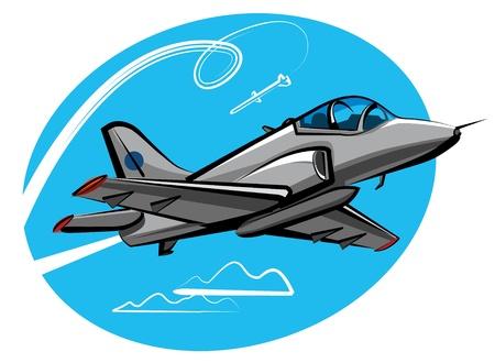 gevechtsvliegtuig Vector Illustratie