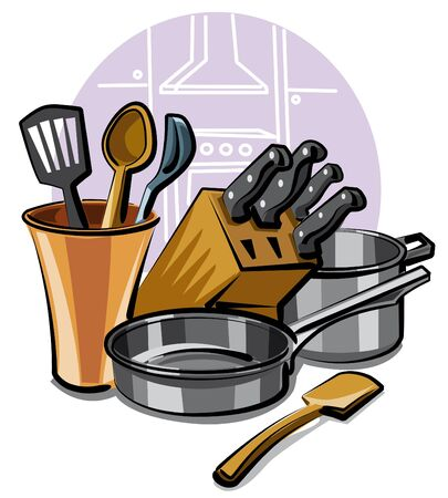 kitchen ware Stock Vector - 9655558