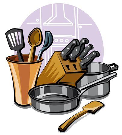 saute: kitchen ware Illustration