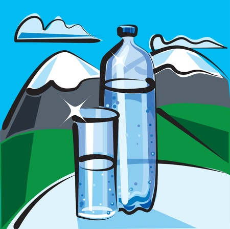 mineral water Stock Vector - 9608814