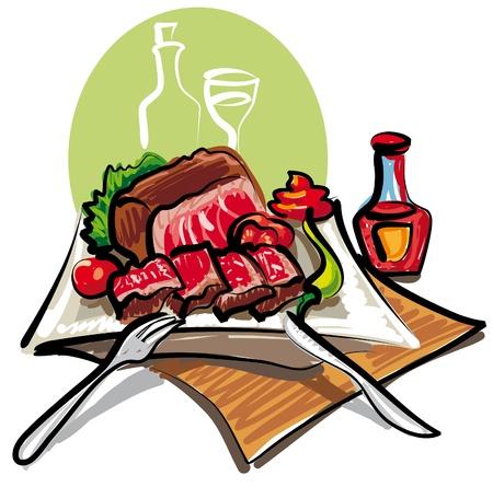 arrosto: arrosto di manzo e verdure