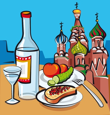moscow churches: russian vodka