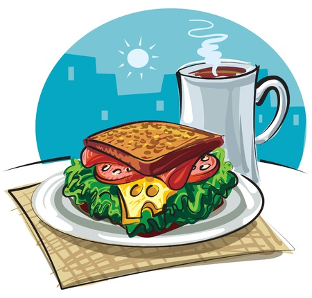 sandwich Stock Vector - 9608823